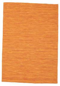 Kilim Loom - Orange Rug 140X200 Authentic  Modern Handwoven Orange (Wool, India)
