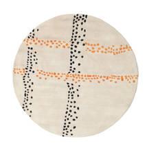 Delight Handtufted - Orange Rug Ø 150 Modern Round Beige/Light Grey (Wool, India)