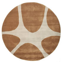 Stones Handtufted - Brown Rug Ø 150 Modern Round Brown/Light Grey (Wool, India)