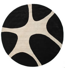 Stones Handtufted - Black Rug Ø 300 Modern Round Black/Light Grey Large (Wool, India)
