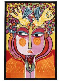 She Has Flowers In Her Hair Rug 120X180 Modern Orange/Dark Brown ( Turkey)