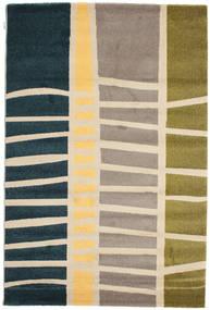Abstract Bamboo Rug 160X230 Modern Dark Blue/Beige ( Turkey)