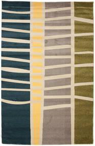 Abstract Bamboo Rug 200X300 Modern Beige/Blue/Light Grey ( Turkey)