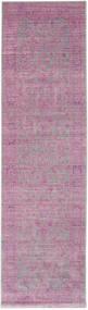 Maharani - Grey/Pink Rug 80X300 Modern Hallway Runner  Light Pink/Pink/Light Purple ( Turkey)