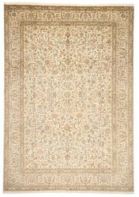 Kashmir Pure Silk Rug 246X352 Authentic  Oriental Handknotted Beige/Dark Beige (Silk, India)
