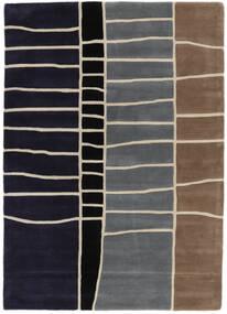 Abstract Bamboo Handtufted Rug 160X230 Modern Dark Purple/Light Grey (Wool, India)