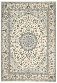 Nain 6La Rug 247X355 Authentic  Oriental Handknotted Light Grey/Beige (Wool/Silk, Persia/Iran)
