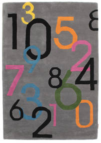Lucky Numbers - Grey Rug 120X180 Modern Dark Brown/Black (Wool, India)