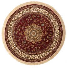 Nahal - Rust Rug Ø 150 Modern Round Dark Red/Dark Brown ( Turkey)