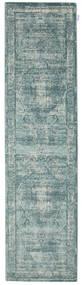 Jacinda - Light Rug 80X300 Modern Hallway Runner  Light Grey/Turquoise Blue/Dark Grey ( Turkey)