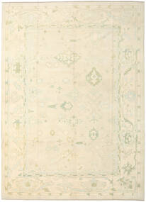 Oushak Rug 287X400 Authentic  Oriental Handknotted Beige/Dark Beige Large (Wool, Turkey)