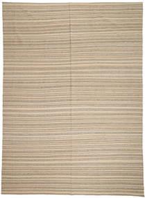 Kilim Modern Rug 246X341 Authentic  Modern Handwoven Light Grey/Beige (Wool, Afghanistan)