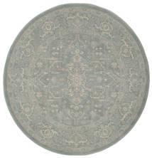 Ziegler Phoenix - Blue Rug Ø 150 Oriental Round Light Grey ( Turkey)