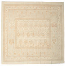 Oushak Rug 380X388 Authentic  Oriental Handknotted Square Beige Large (Wool, Turkey)
