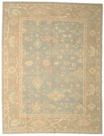 Oushak Rug 280X367 Authentic  Oriental Handknotted Dark Beige/Beige Large (Wool, Turkey)