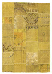 Patchwork Rug 159X231 Authentic  Modern Handknotted Yellow/Olive Green (Wool, Turkey)