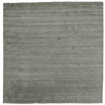 Handloom Fringes - Dark Grey Rug 300X300 Modern Square Dark Grey Large (Wool, India)