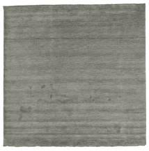 Handloom Fringes - Dark Grey Rug 250X250 Modern Square Dark Grey Large (Wool, India)