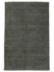 Handloom Fringes - Dark Grey Rug 140X200 Modern Dark Grey (Wool, India)