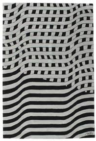 Passages Handtufted - Black/Grey Rug 200X300 Modern Black/Light Grey/Turquoise Blue (Wool, India)