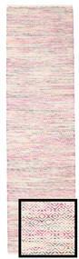 Hugo - Multi Pink Rug 80X300 Authentic  Modern Handwoven Hallway Runner  Light Pink/Beige ( India)