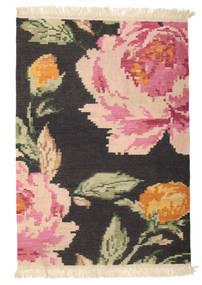 Kilim Karabakh Sofia - Black Rug 100X160 Authentic  Modern Handwoven Dark Grey/Light Pink (Wool, India)