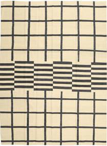 Kilim Modern Rug 210X285 Authentic Modern Handwoven Beige/Black (Wool, Afghanistan)