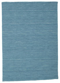 Kilim Loom - Blue Rug 140X200 Authentic  Modern Handwoven Turquoise Blue/Blue (Wool, India)