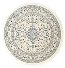 Nain Emilia - Cream/Light Blue Rug Ø 150 Oriental Round Beige/Light Grey ( Turkey)