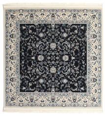 Nain Florentine - Dark Blue Rug 150X150 Oriental Square Dark Grey/Beige ( Turkey)