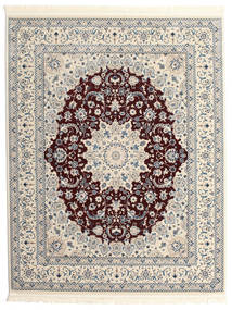 Nain Emilia - Dark Red Rug 200X250 Oriental Light Grey/Dark Brown ( Turkey)