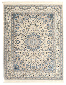 Nain Emilia - Cream/Light Blue Rug 200X250 Oriental Light Grey/Beige ( Turkey)