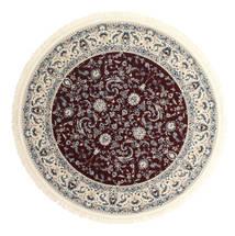 Nain Florentine - Dark Red Rug Ø 200 Oriental Round Light Grey/Beige ( Turkey)