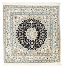 Nain Emilia - Dark Blue Rug 150X150 Oriental Square Light Grey/Beige ( Turkey)