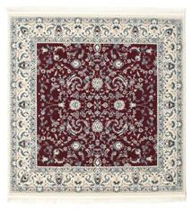 Nain Florentine - Dark Red Rug 150X150 Oriental Square Beige/Light Grey ( Turkey)