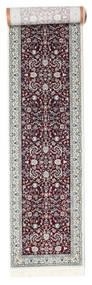 Nain Florentine - Dark Red Rug 80X350 Oriental Hallway Runner  Light Grey/Dark Brown ( Turkey)