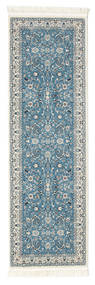 Nain Florentine - Light Blue Rug 80X250 Oriental Hallway Runner  Light Grey/Turquoise Blue ( Turkey)