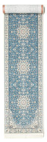 Nain Emilia - Light Blue Rug 80X400 Oriental Hallway Runner  Light Grey/Light Blue ( Turkey)