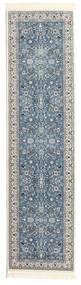 Nain Florentine - Light Blue Rug 80X300 Oriental Hallway Runner  Light Green/Dark Blue ( Turkey)