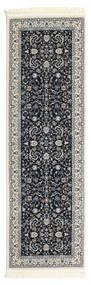 Nain Florentine - Dark Blue Rug 80X300 Oriental Hallway Runner  Dark Grey/Light Grey ( Turkey)
