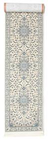 Nain Emilia - Cream/Light Blue Rug 80X350 Oriental Hallway Runner  Light Grey/Beige ( Turkey)