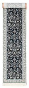 Nain Florentine - Dark Blue Rug 80X350 Oriental Hallway Runner  Light Grey/Dark Grey ( Turkey)