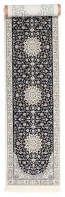 Nain Emilia - Dark Blue Rug 80X400 Oriental Hallway Runner  Light Grey/Black ( Turkey)