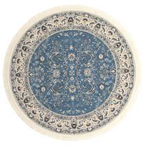 Nain Florentine - Light Blue Rug Ø 250 Oriental Round Dark Grey/Light Grey/Blue Large ( Turkey)