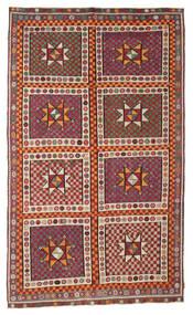 Kilim Semi Antique Turkish Rug 183X311 Authentic  Oriental Handwoven Dark Red/Crimson Red (Wool, Turkey)