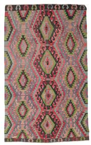 Kilim Semi Antique Turkish Rug 180X296 Authentic  Oriental Handwoven Dark Grey/Dark Red (Wool, Turkey)