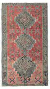 Kilim Semi Antique Turkish Rug 180X320 Authentic  Oriental Handwoven Dark Grey/Rust Red (Wool, Turkey)