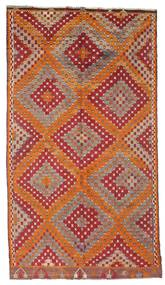 Kilim Semi Antique Turkish Rug 170X306 Authentic  Oriental Handwoven Dark Red/Brown (Wool, Turkey)