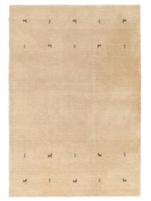 Gabbeh Loom Two Lines - Beige Rug 140X200 Modern Yellow/Dark Beige (Wool, India)