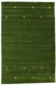 Gabbeh Loom Two Lines - Green Rug 190X290 Modern Dark Green (Wool, India)